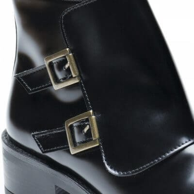 NAE vegan shoes Vegan Enkellaars Tessa Black