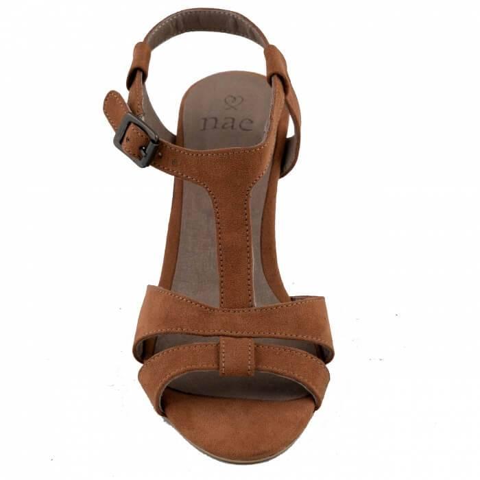 NAE vegan shoes Vegan slingback sandaal | Bona | Brown