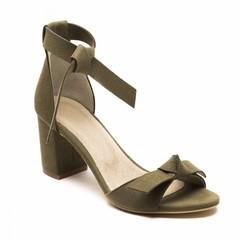 Sandaal met hak Estela groen
