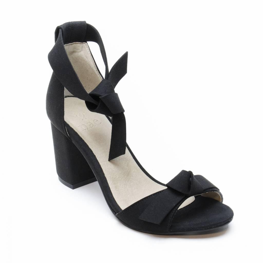 NAE vegan shoes Sandaal met hak Estela zwart