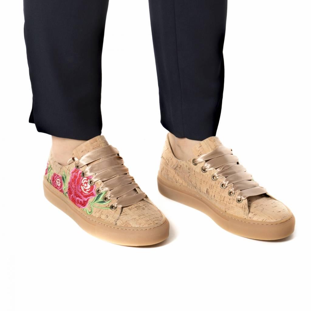 NAE vegan shoes Vegan bloemen sneaker kurk