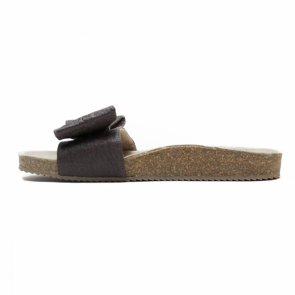 NAE vegan shoes Sandaal van ananasleer en kurk Monik