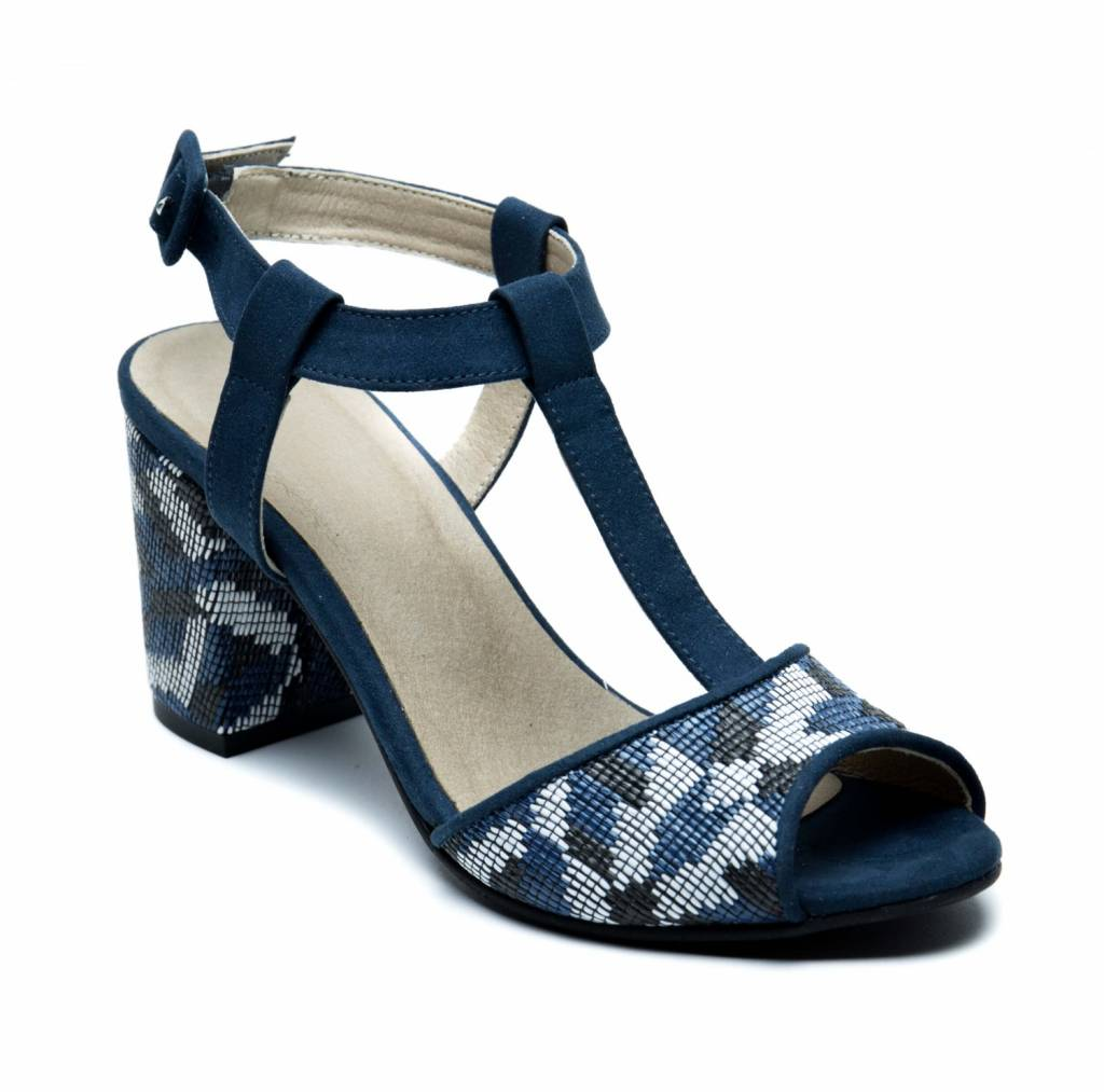 NAE vegan shoes Bloksandaal Kamila Blue