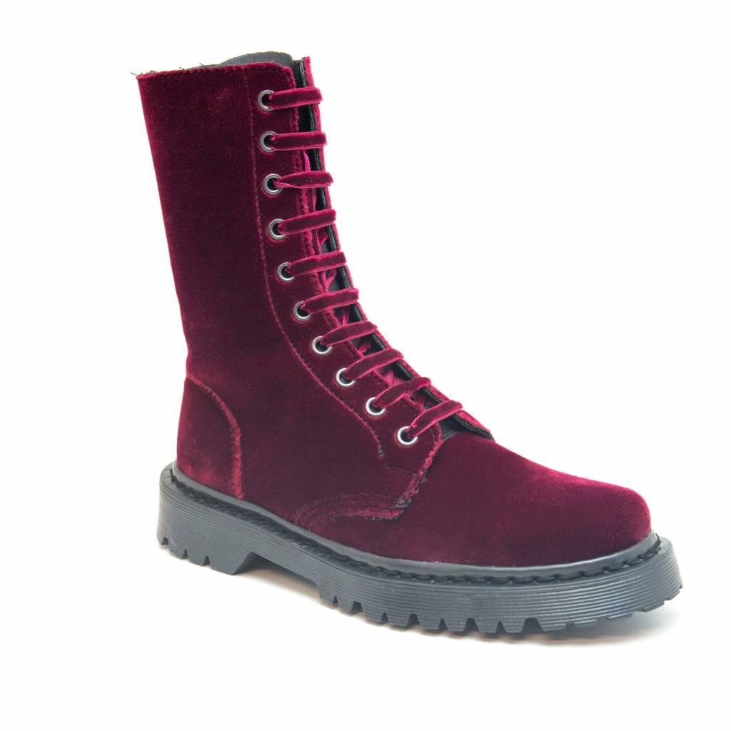 NAE vegan shoes Boots velvet bordeaux