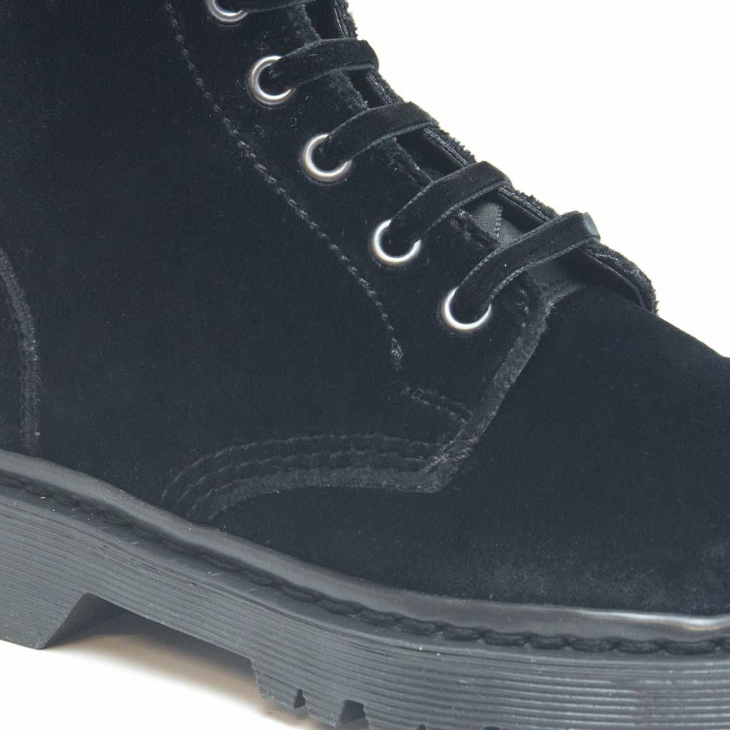 NAE vegan shoes Boots velvet Zwart