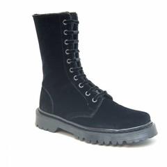 Boots velvet Zwart