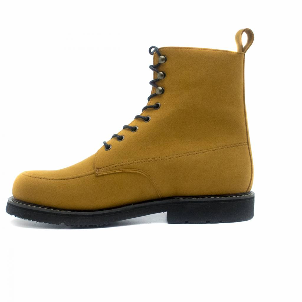 NAE vegan shoes Shortboot Andre microsuede Camel