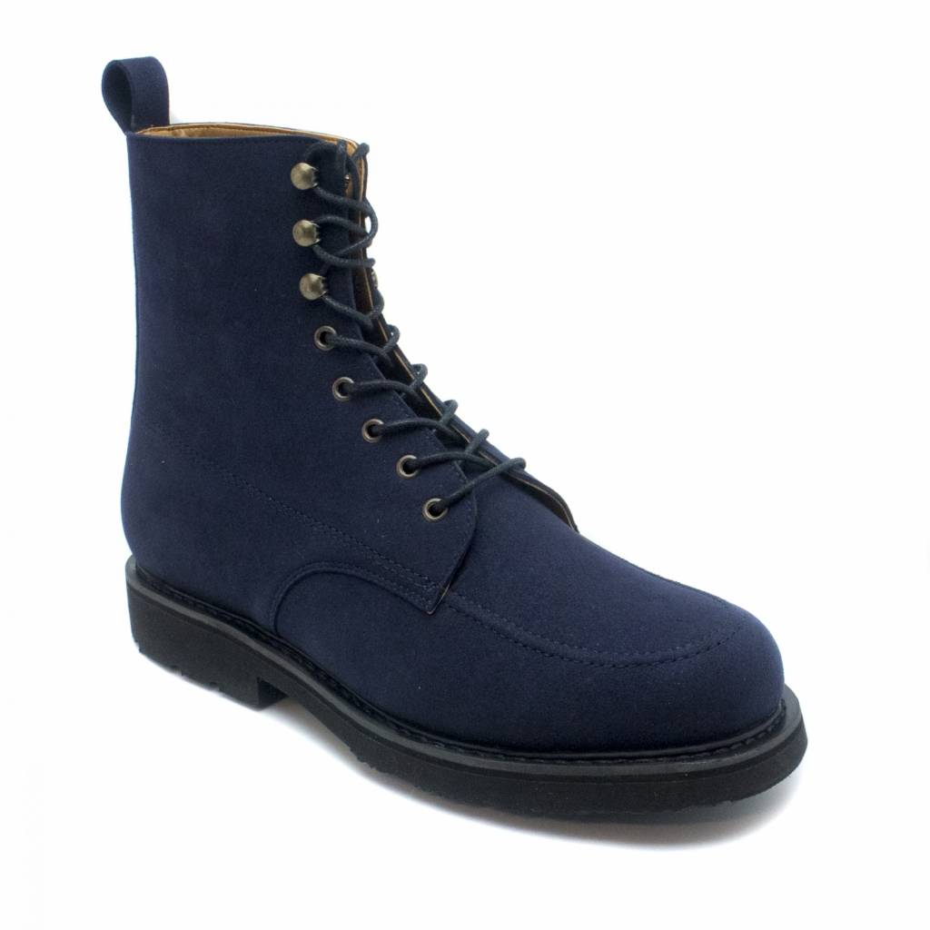 NAE vegan shoes Shortboot Andre microsuede Blauw