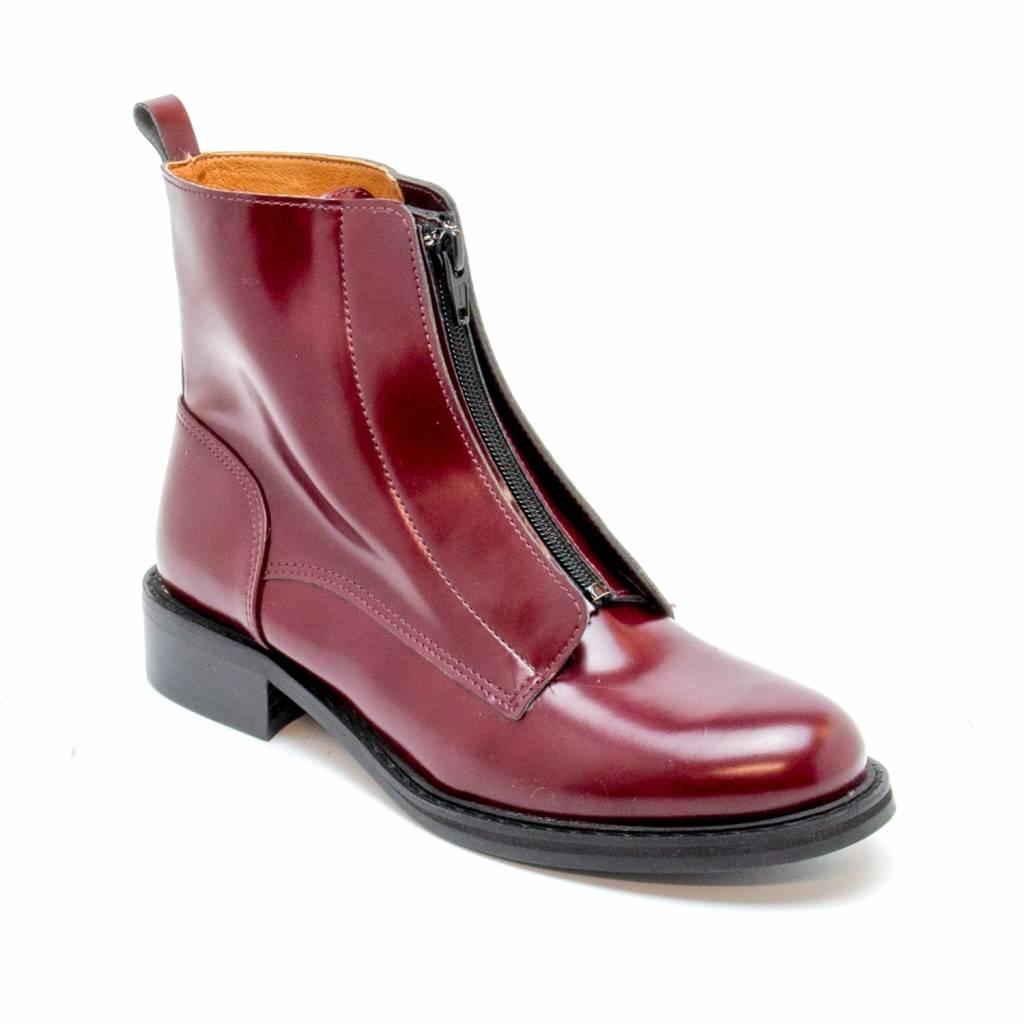 NAE vegan shoes Enkellaarsjes ZipMe Bordeaux