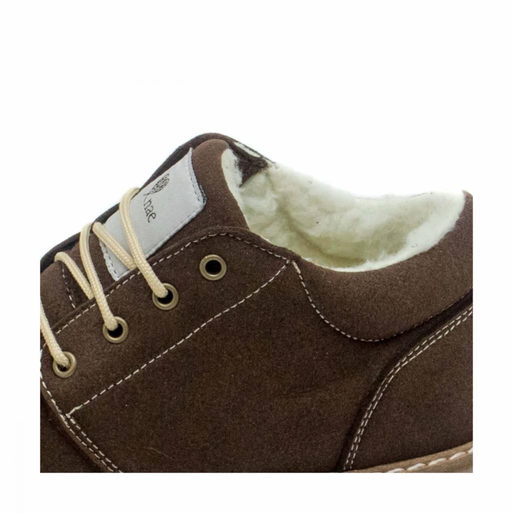 NAE vegan shoes Veterschoenen Pipa Bruin