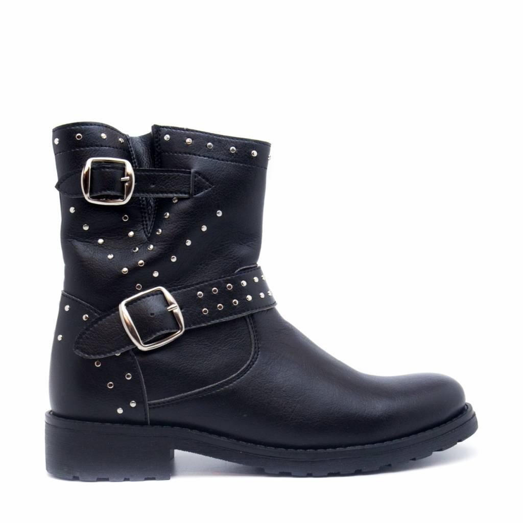 NAE vegan shoes Biker boots Gabri Zwart