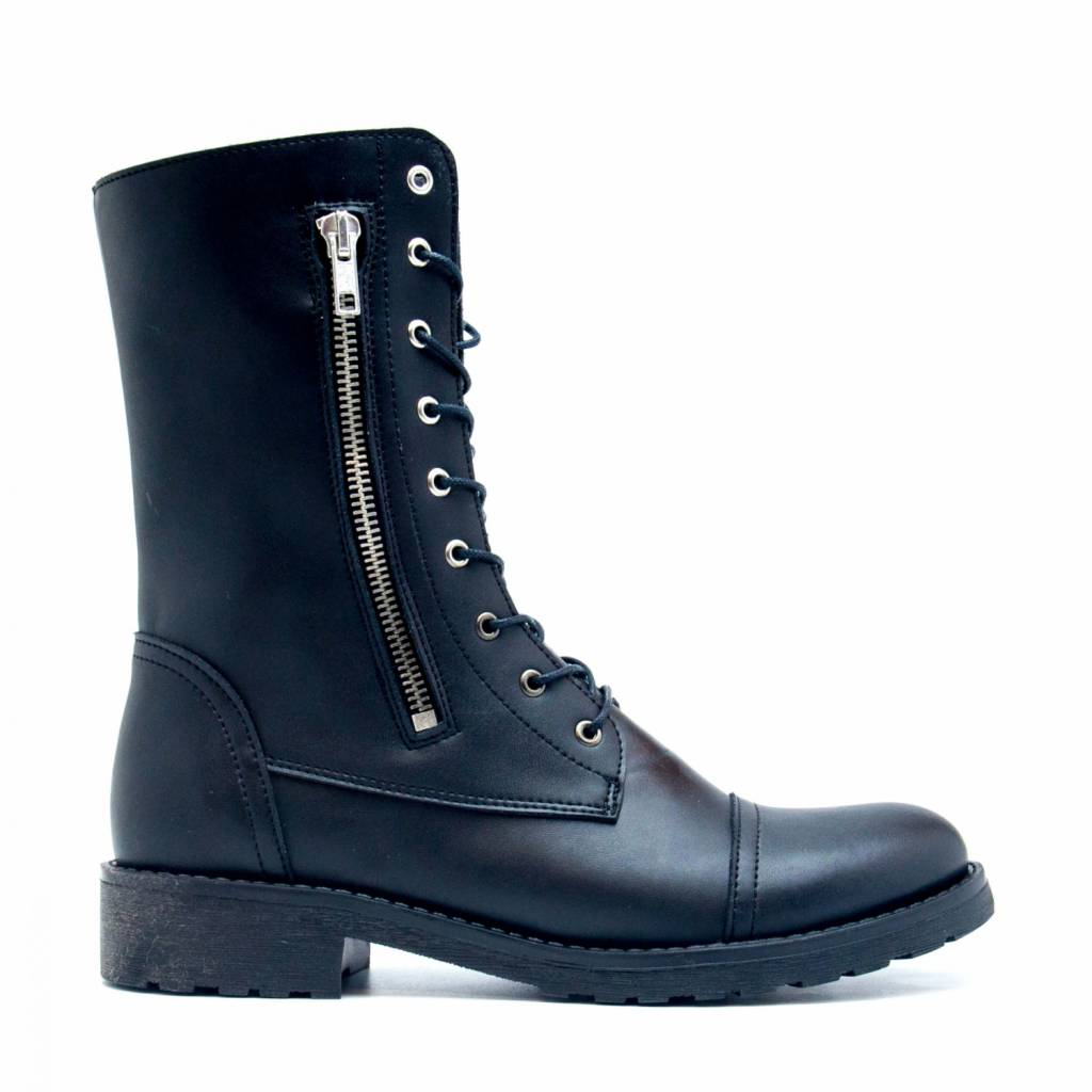 NAE vegan shoes Enkellaarsjes Zaira Zwart