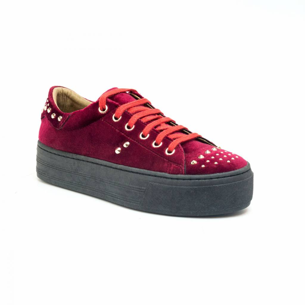 NAE vegan shoes Platform Sneakers Wika Velvet Bordeaux