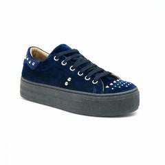 Platform Sneakers Wika Velvet Blauw