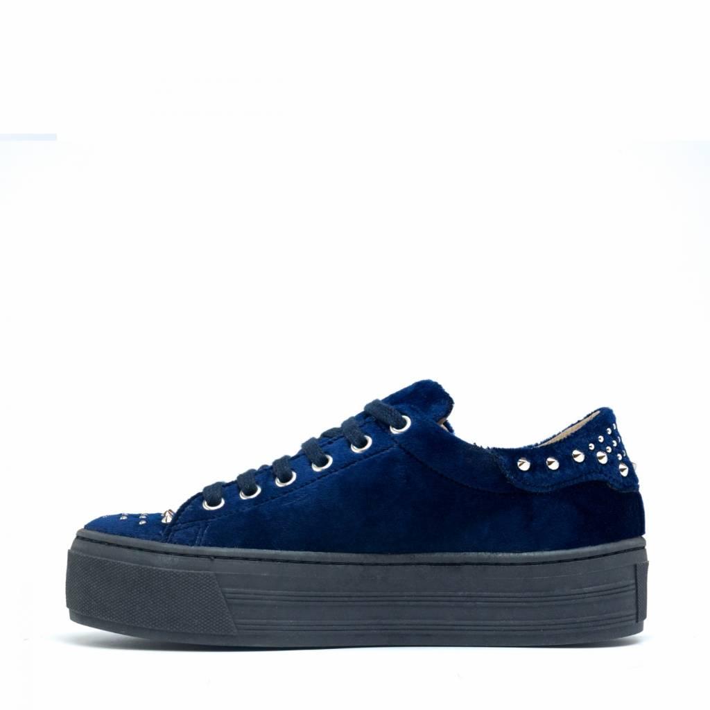 NAE vegan shoes Platform Sneakers Wika Velvet Blauw
