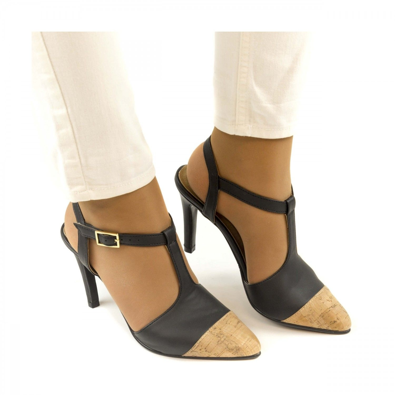 NAE vegan shoes Hoge Hakken Alya cork vegan