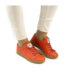 Sneaker Ananasleer Basic Coral