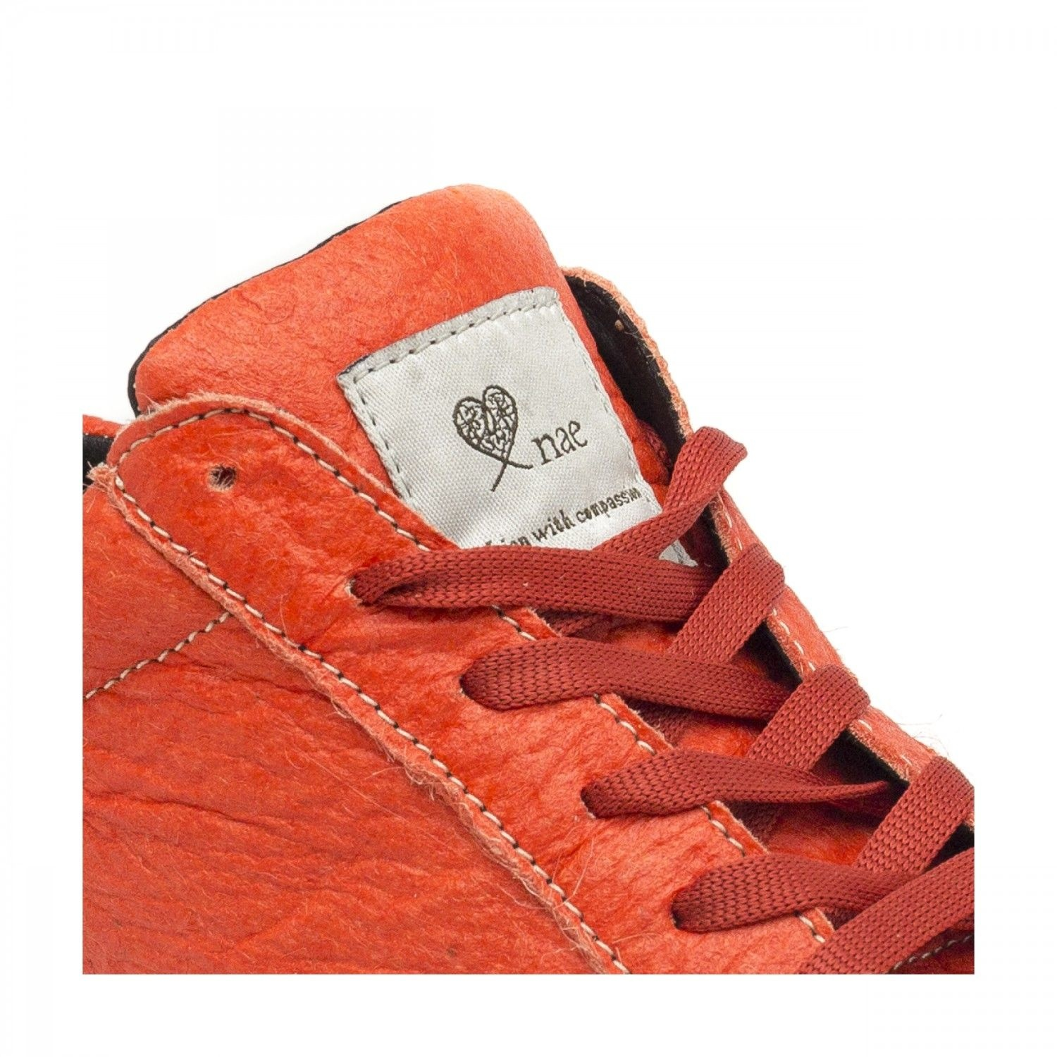 NAE vegan shoes Sneaker Ananasleer Basic Coral