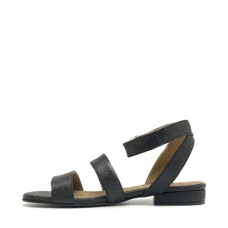 NAE vegan shoes Sandaal ananasleer Gatria zwart