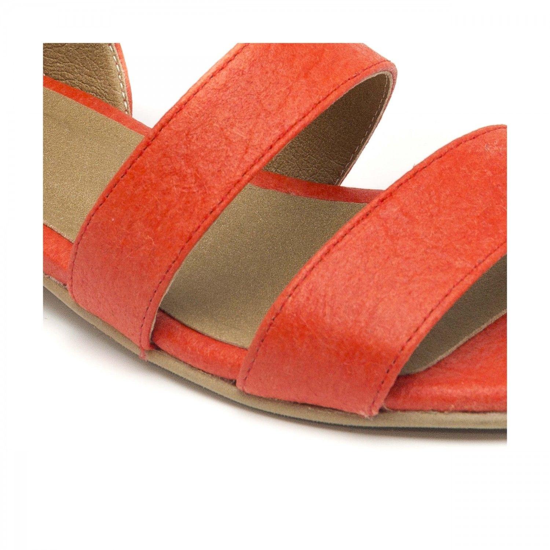 NAE vegan shoes Sandaal ananasleer Gatria Koraal