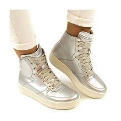 Sneaker Zilver Okul Metal Vegan