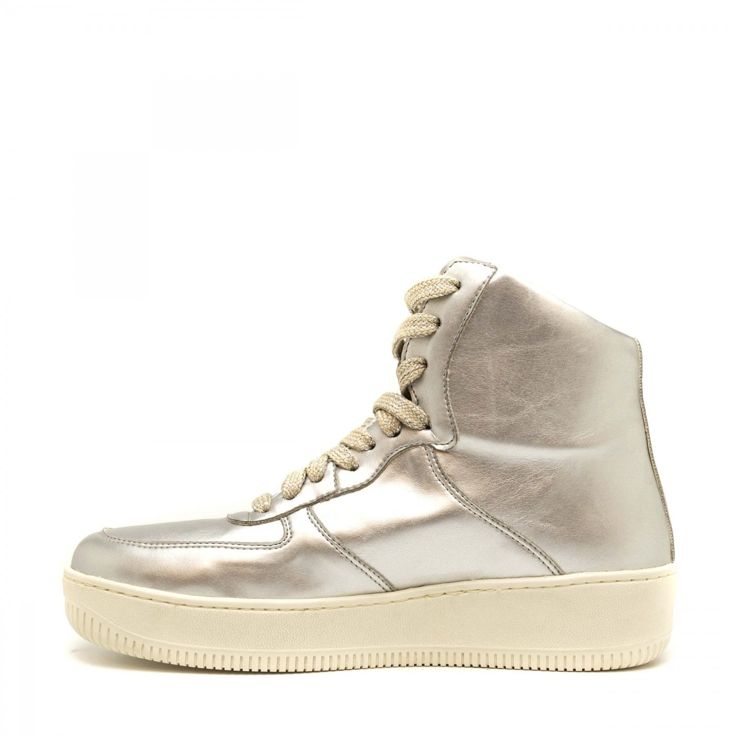 NAE vegan shoes Sneaker Zilver Okul Metal Vegan