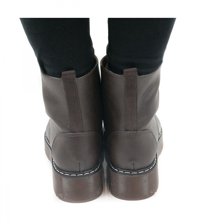 NAE vegan shoes Enkellaars Trina Bruin