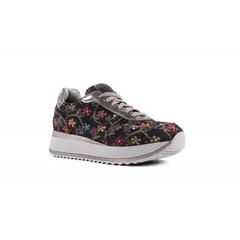 Sneaker Asia flowers black