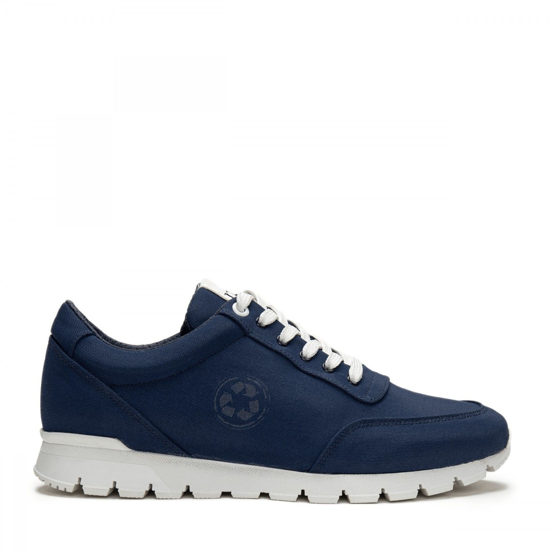 NAE vegan shoes Nilo Blue oxford sneakers oceanclean