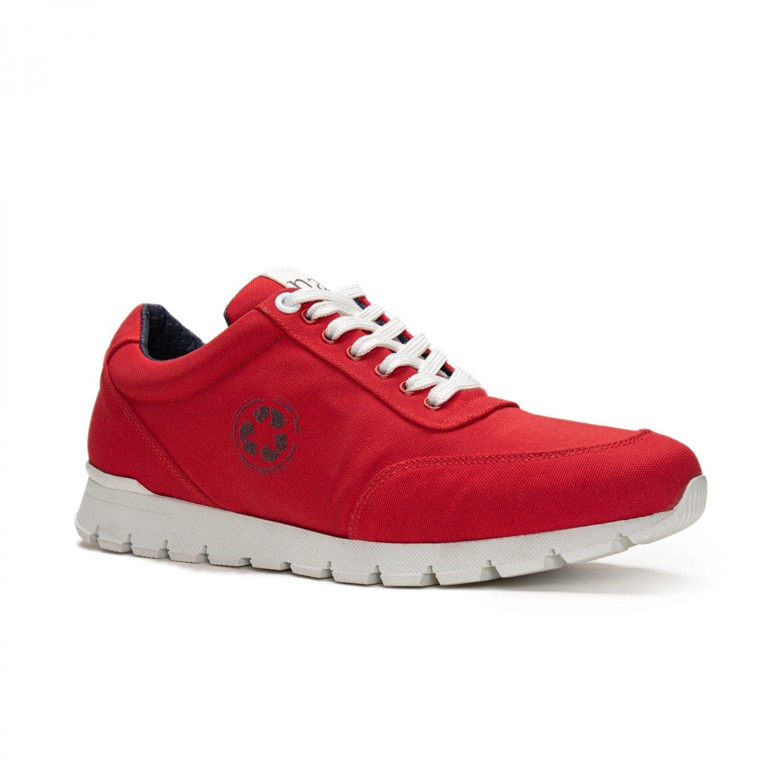 NAE vegan shoes Nilo Red oxford sneakers oceanclean