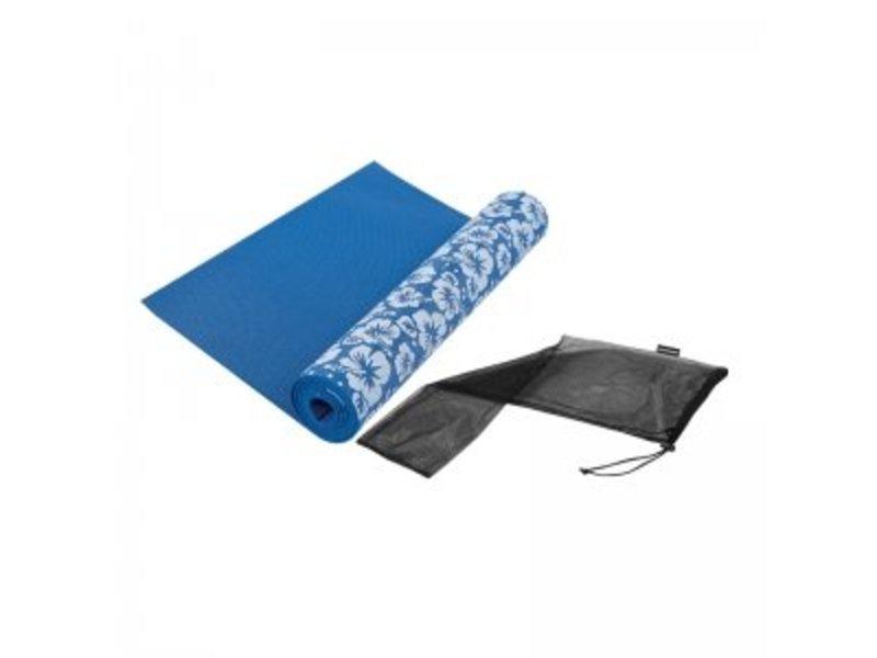 Tunturi Yoga Matte bedruckt blau