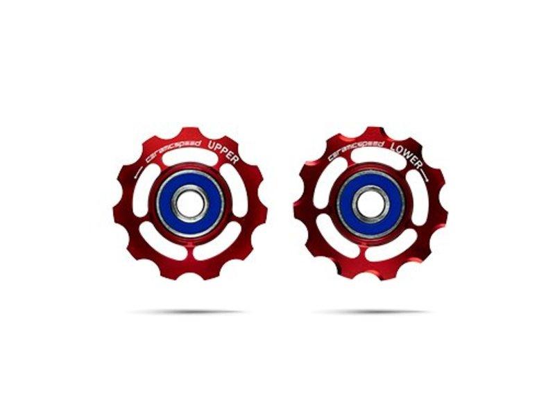 ceramicspeed Schaltungsrädchen, SRAM 9+10-fach, Alu, rot