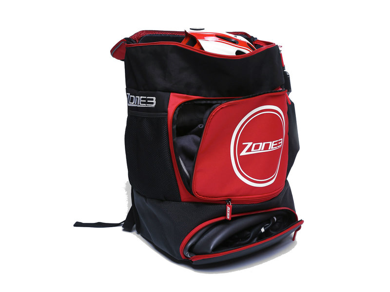 Zone3  TRANSITION BACKPACK - SCHWARZ/ROT