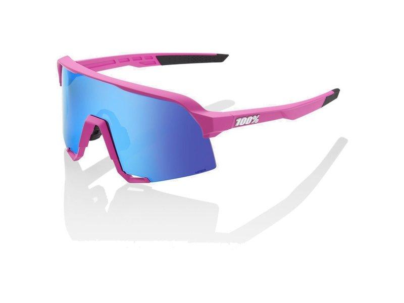 100% S3 Hiper Mirror Lens Sonnenbrille pink