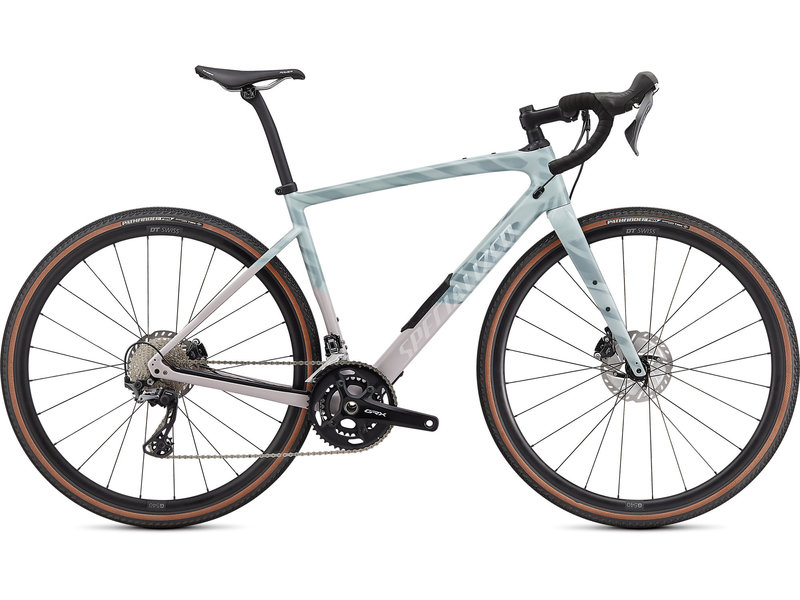 Specialized  Diverge Comp Carbon GRX Gravel Bike in Gloss Ice Blue