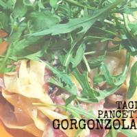 Tagliatelle met peer, pancetta en gorgonzola