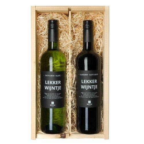 Lekker wijntje Duo wijn Cadeau - Cadeau