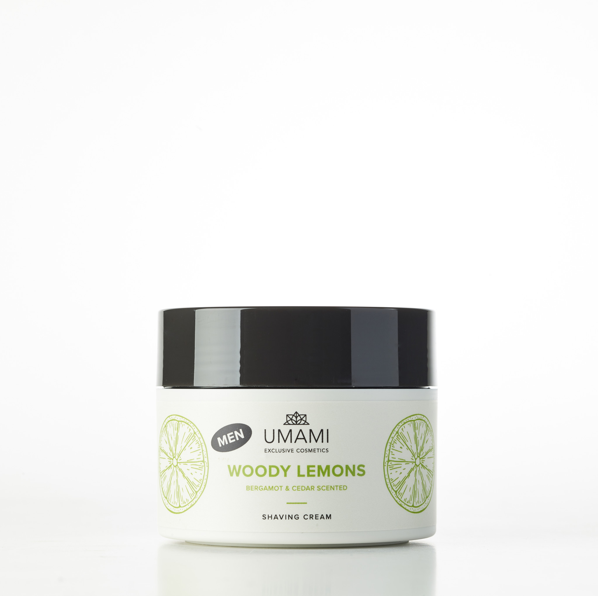 UMAMI Shaving Cream Woody Lemons 250ml