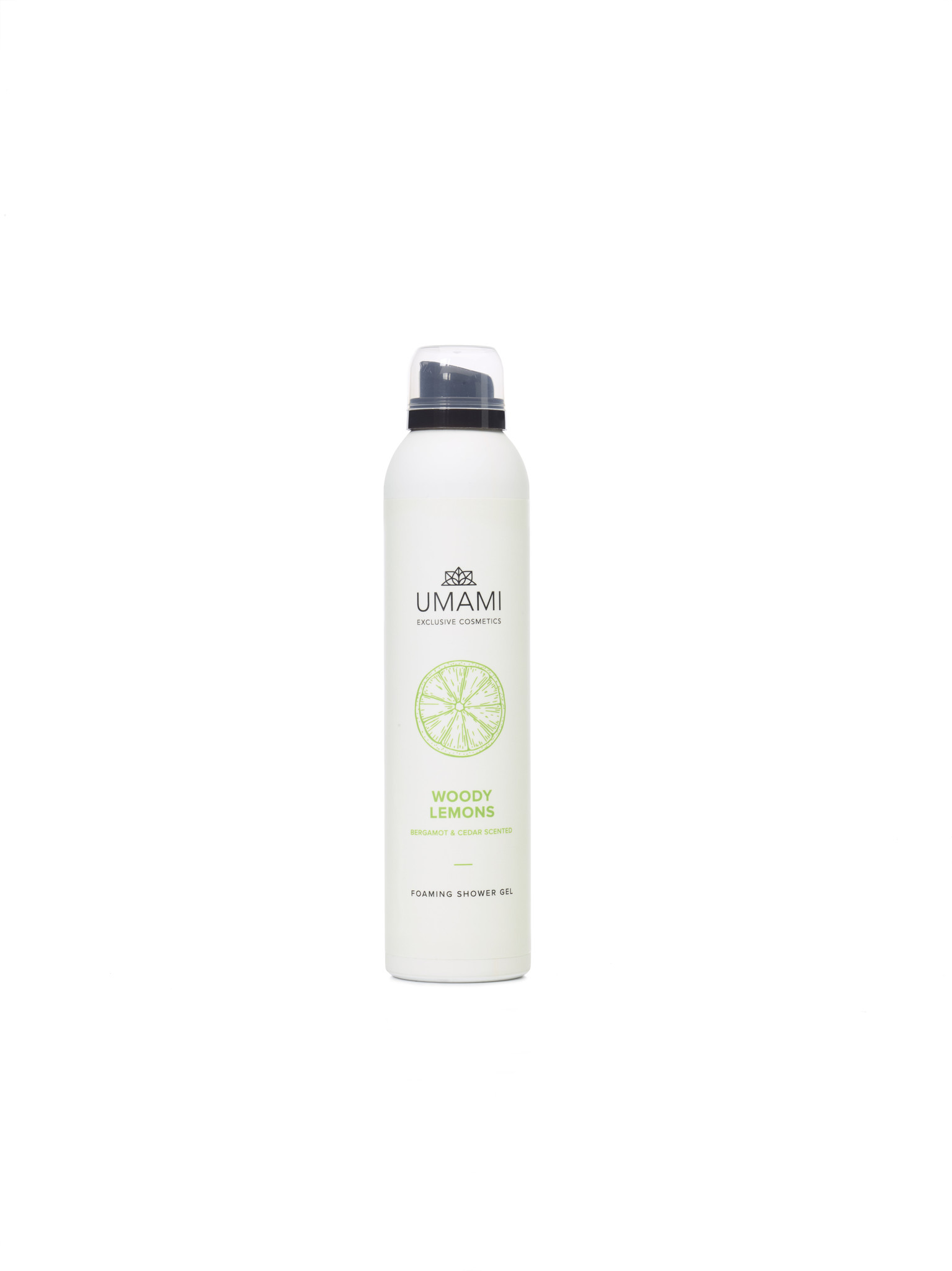 UMAMI Foaming  Shower Gel Woody Lemons 200ml
