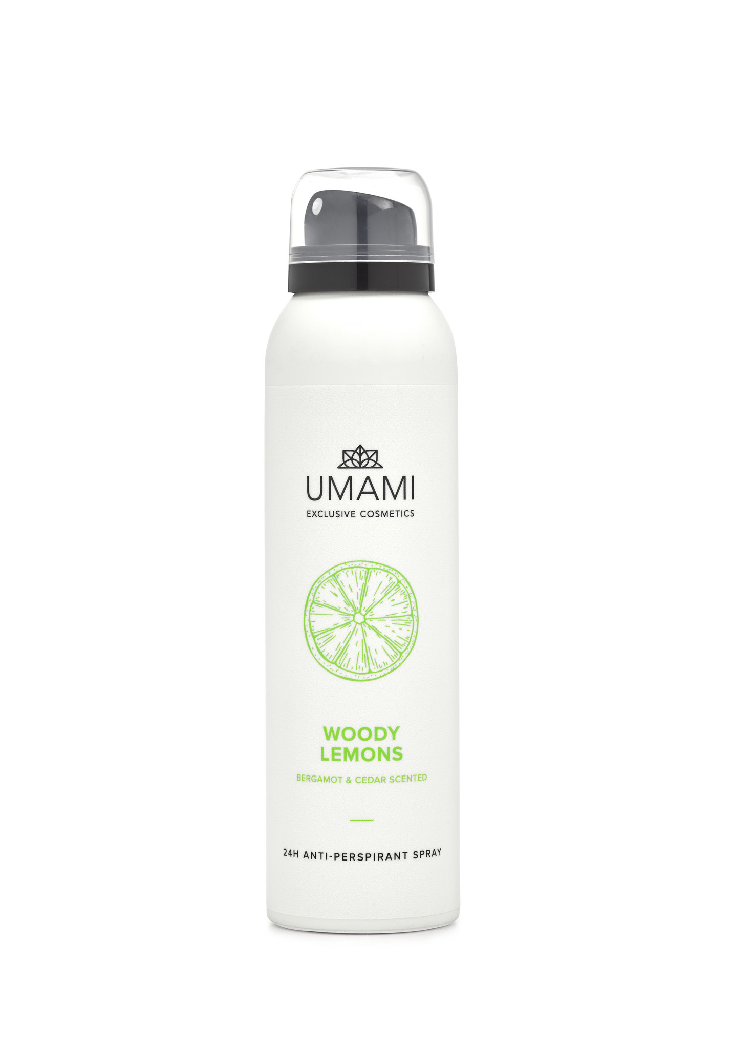 Umami Anti-perspirant spray Woody Lemons 150ml