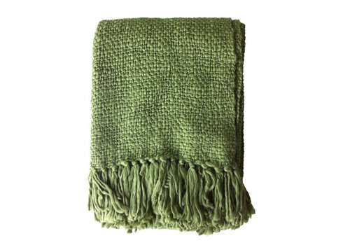 Dark jungle green throw (31 Dec)