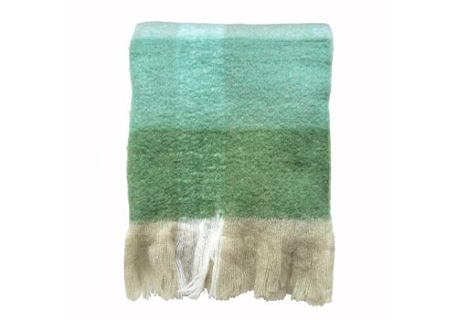 Pea green mohair throw (31 Dec)
