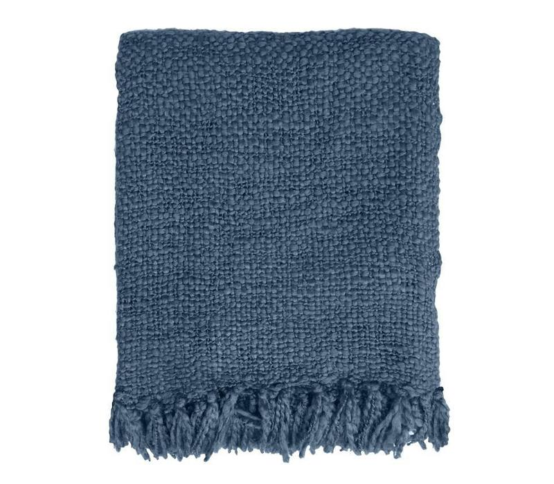 Indigo solid throw