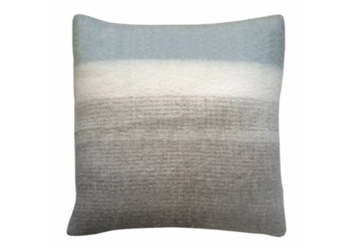Light grey mohair cushion