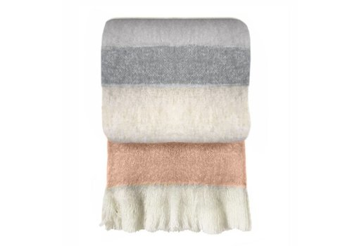 Peach pink mohair throw (March 30)