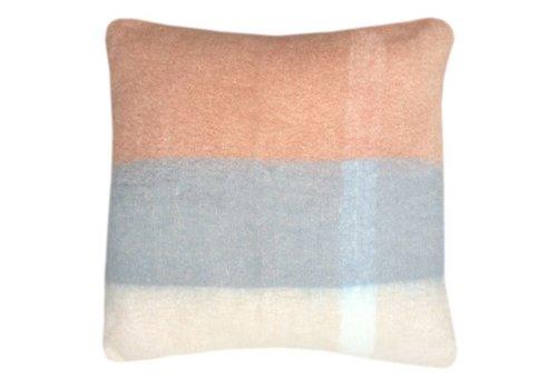 Peach pink mohair cushion (March 30)
