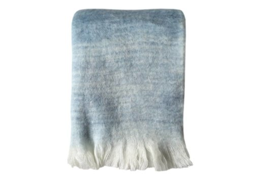 Tye dye blue mohair throw