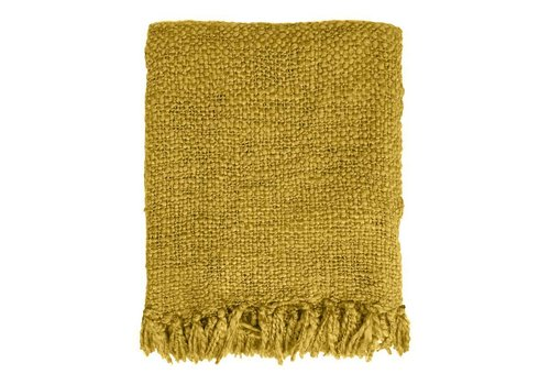 Mustard yellow throw