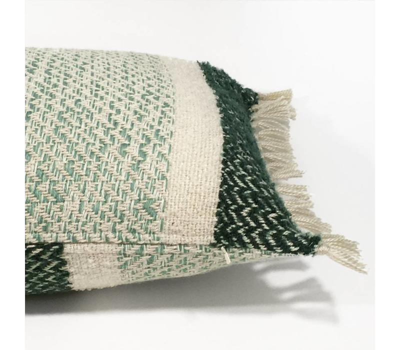 Berber grainy green cushion