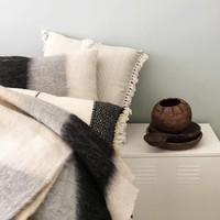 Black mohair throw